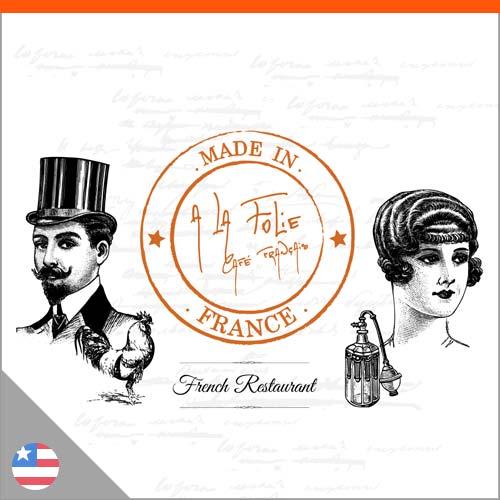 Logo restaurant A la Folie Café français