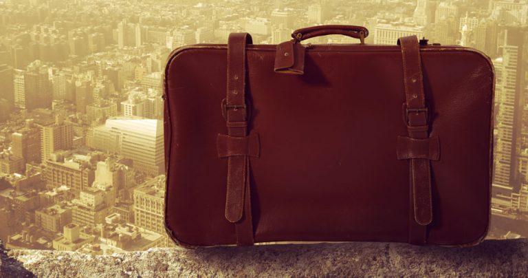 Photo d'une valise perdue