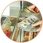 Echange de devises étrangères au bureau de change