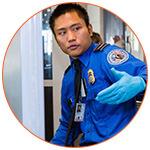Agent de sécurité aéroportuaire aux USA