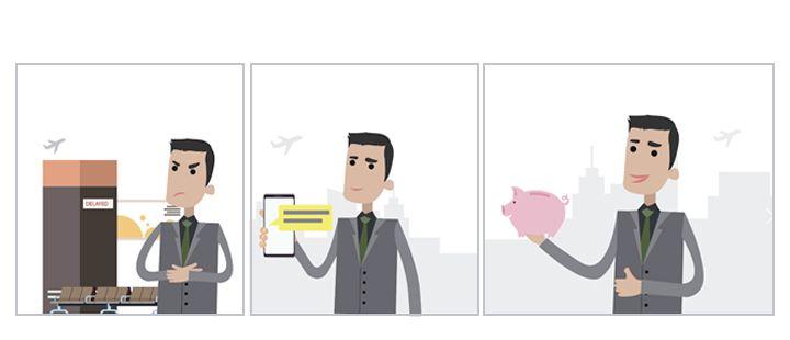 Etapes de l'assurance proactive Air France