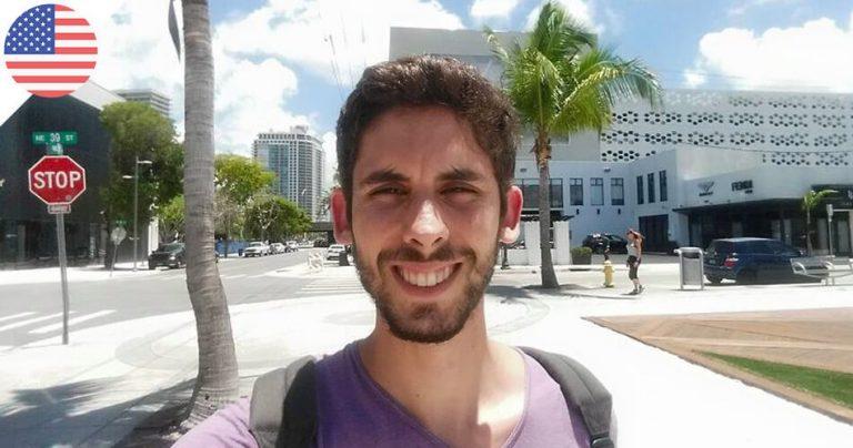 Photo d'Alexandre à Miami pour l'interview French Radar
