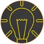 Ampoule symbolisant une idée d'aide