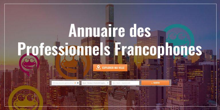 Rubrique annuaire pro French Radar