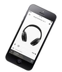 Photo d'un smartphone avec l'application Bose pour QuietComfort 35 II
