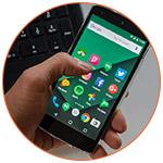 Smartphone avec présentation des applications