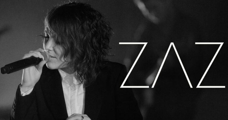 Photo noir et blanc de l'Artiste chanteuse française ZAZ