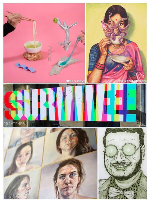 Oeuvres des artistes de l'exposition You do You