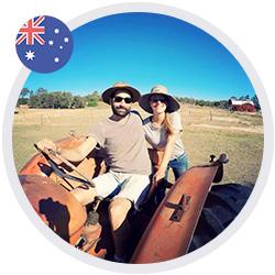 Aurélie et Romain, jeune couple de toulousains en Australie