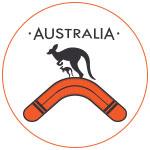 Kangourous boomerang Australie concept