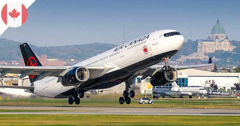 Avion Air Canada au décollage