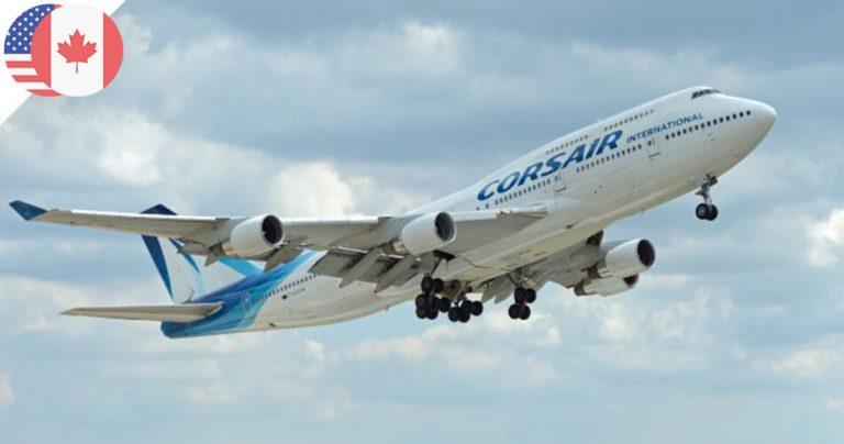 Avion boeing de la compagnie aérienne française Corsair International.
