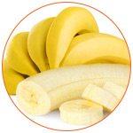 Photo de bananes avec quelques rondelles au premier plan