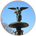 Bethesda Fountain à Central Park (USA)