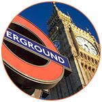 Big Ben et panneau Underground à Londres