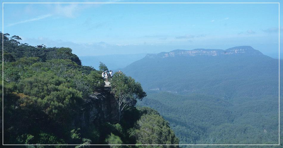 Vue panoramique des Blue Mountains - Cliff Edge - Australie
