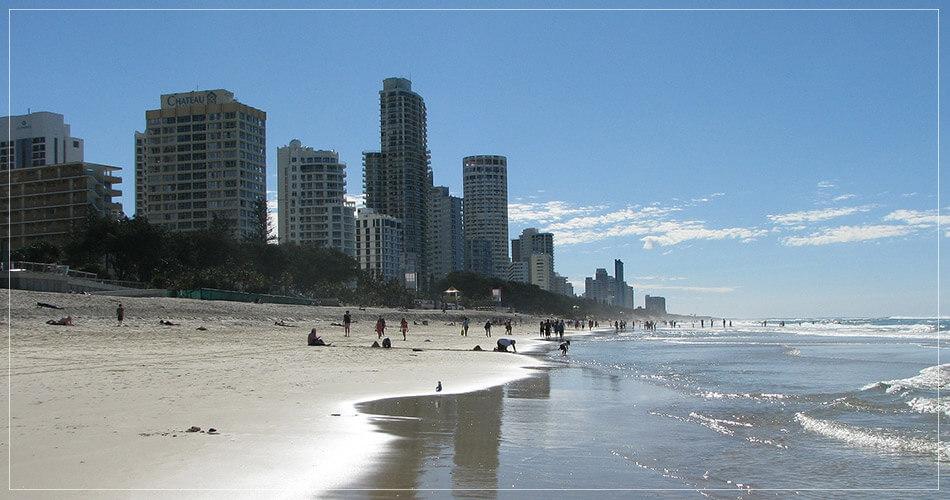 Splendide vue sur la plage de Brisbane en Australie