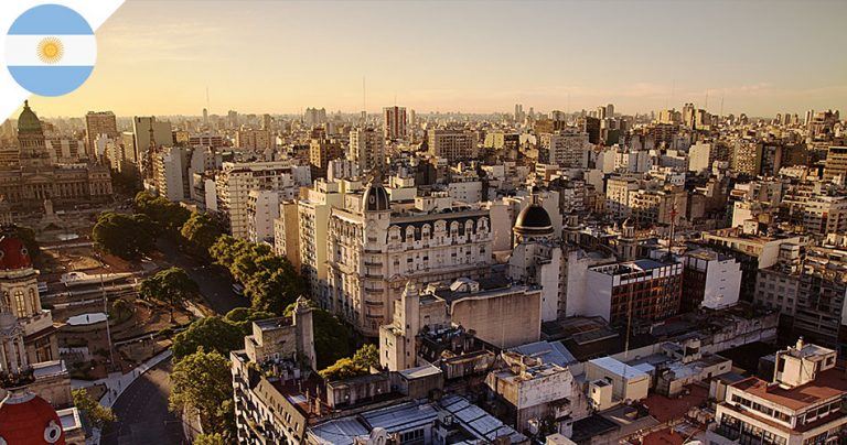 Vue aérienne de la ville de Buenos Aires en Argentine