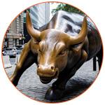 Art : Taureau dans une rue de New York
