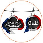 Bulles de dialogue : Parlez-vous français - Réponse Oui!