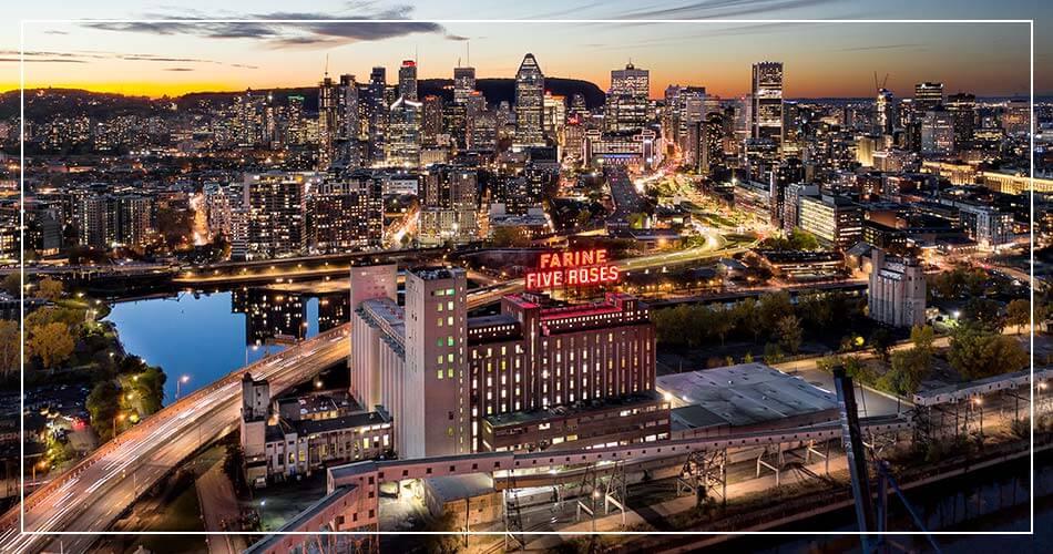 Ville de Montréal de nuit