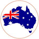 Carte de l'Australie avec son drapeau