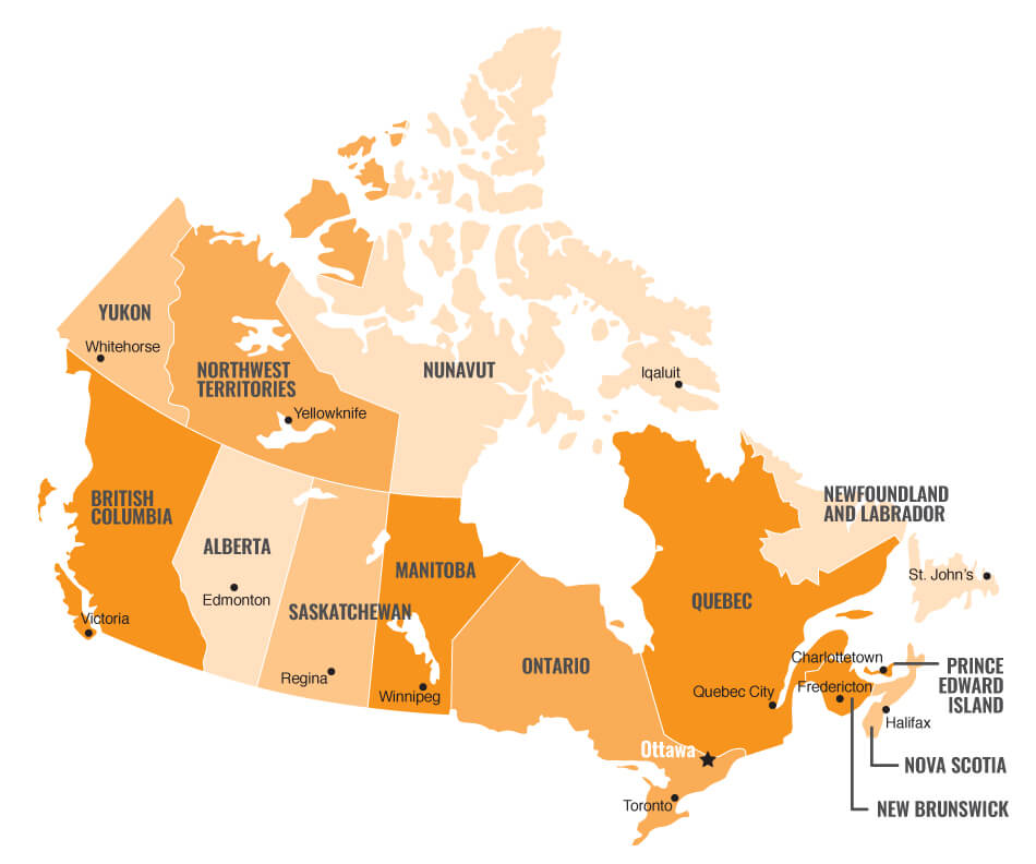 Carte du Canada (Made by French Radar)