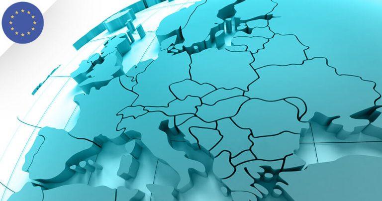 Concept 3D carte d'Europe pour French Radar