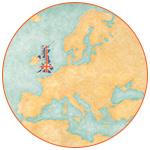 Carte de l'Europe avec le Royaume-Uni