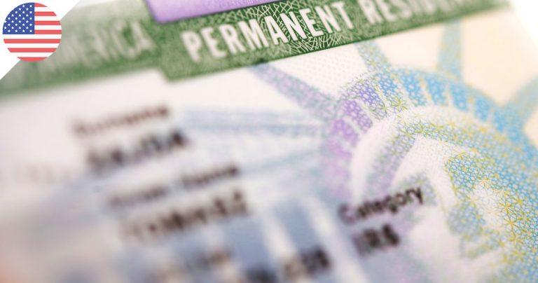 Carte verte américaine - Green card USA