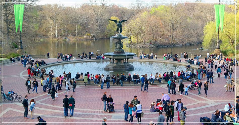 Sélection de photos de Central Park à New York City USA