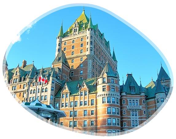 Fairmont Le Château Frontenac à Québec au Canada