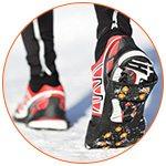 Chaussures de sport dans la neige