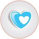 Coeur bleu morderne pour French Radar