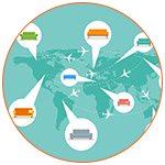 La carte du monde du Couchsurfing