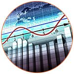 Graphique des cours des bourses internationales