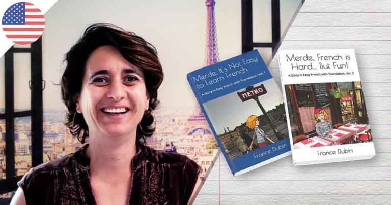 Portrait de France Dubin, professeur français et auteur de livres pour apprendre le français
