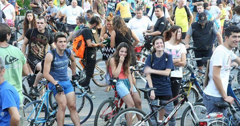 Groupe de cycliste lors de Critical Mass