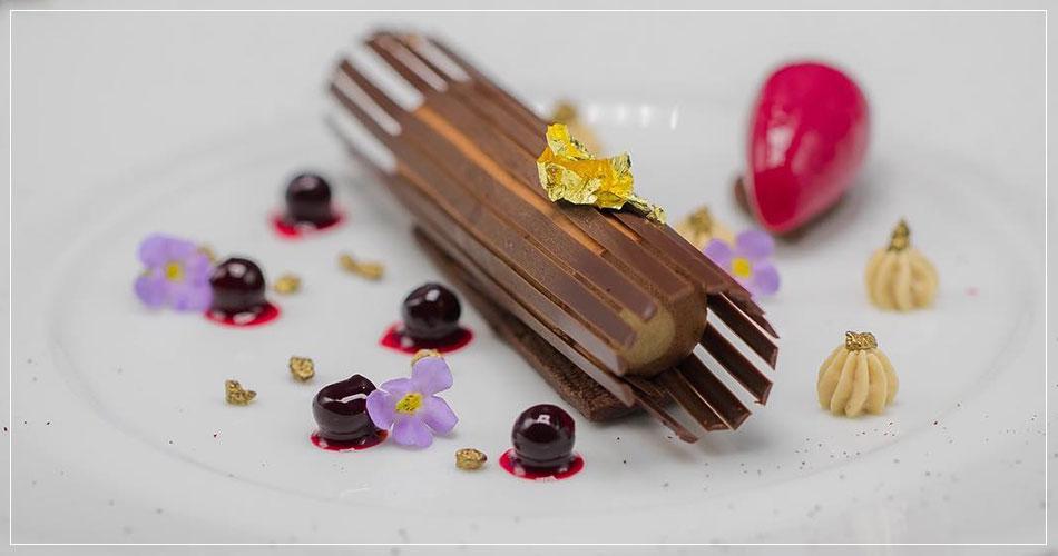 Dessert du restaurant français Daniel Boulud à New York (USA)