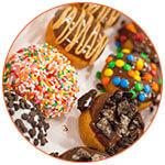Sélection de plusieurs donuts américains