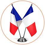 Deux drapeaux français miniature