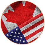 Présentation des drapeaux américain et canadien