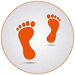 Illustration de pieds oranges