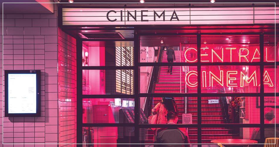 Entrée d'une salle de cinéma