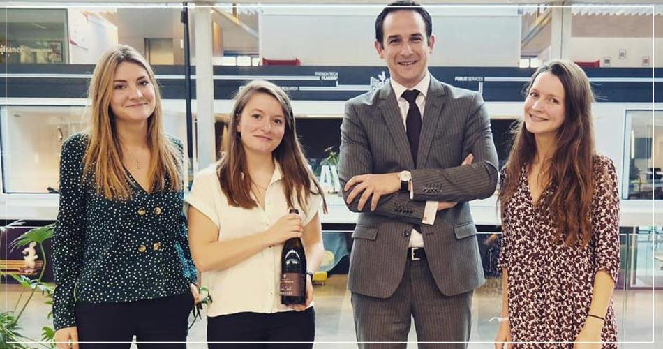 Equipe de la Start-up Cuvée Privée