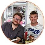 Fabrice Cifré et Guillaume Albin, auteurs de la BD : La Diagonale des fous – Le Grand Raid de La Réunion