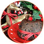 Christmas pudding lors des fêtes de fin d'année