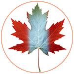 Feuille d'érable représentant le drapeau canadien