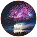 Fireworks fourth of july USA