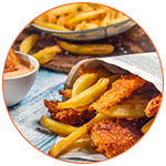 Déjeuner anglais : Fish and chips
